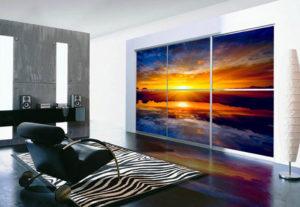Skapji ar fotobildi 300x207 - Bīdāmās durvis ar foto apdruku